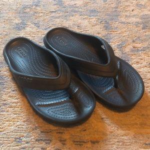 Boys Navy Blue Crocs Sandals 2